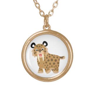 Cute Happy Cartoon Smilodon Necklace
