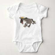 Cute Happy Cartoon Wildebeest Baby T-shirts