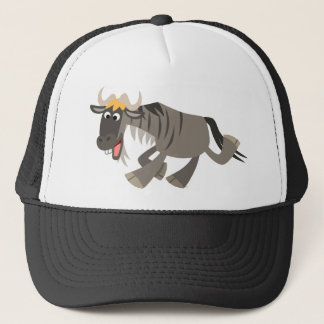 Cute Happy Cartoon Wildebeest Hat