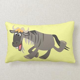 Cute Happy Cartoon Wildebeest Pillow