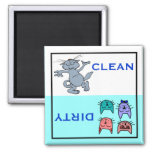 Cute Happy Cats Custom Color Dishwasher 2 Inch Square Magnet