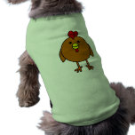 Cute Happy Chicken - Brown Dog Clothing