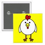 Cute Happy Chicken Button