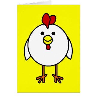 Cute Happy Chicken Card