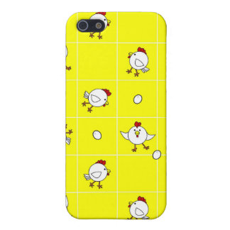 Cute Happy Chicken Dance on Yellow Background Case For iPhone SE/5/5s