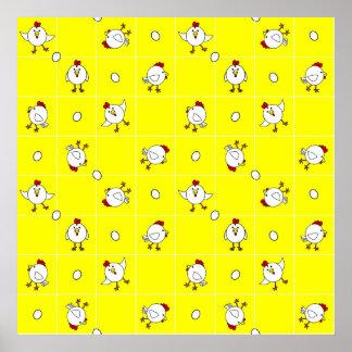 Cute Happy Chicken Dance Poster