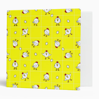 """Cute Happy Chicken Dance Yellow and Red 2"""" Binder"""