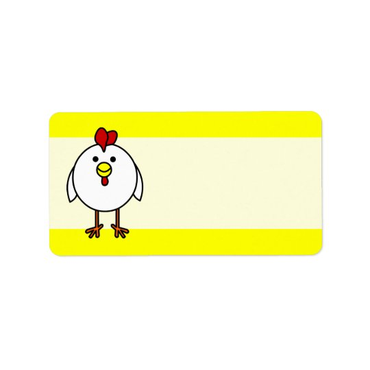 Cute Happy Chicken Label