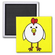 Cute Happy Chicken Magnet