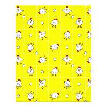 Cute Happy Chicken Yellow Scrapbook Page