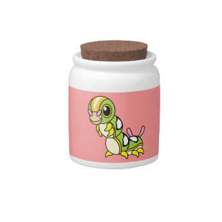 Cute Happy Colorful Caterpillar Candy Jars