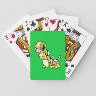 Cute Happy Colorful Caterpillar Playing Cards