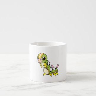 Cute Happy Colorful Caterpillar Espresso Mugs