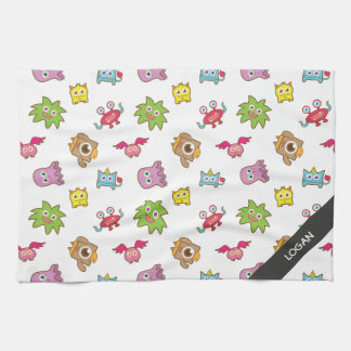 Cute Happy Colourful Little Monsters Pattern Towels
