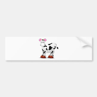 Cute Happy cow cartoon characters Bumper Sticker