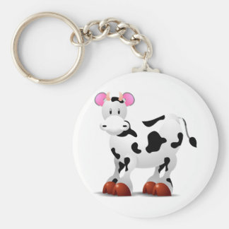 Cute Happy cow cartoon characters Keychain