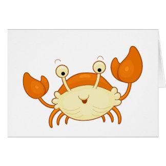 Cute Happy Crab Card