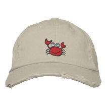 cute happy crab hat