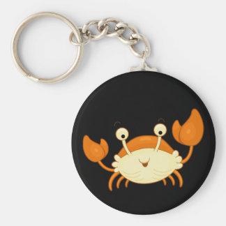 Cute Happy Crab Keychain