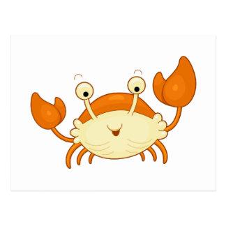 Cute Happy Crab Postcard