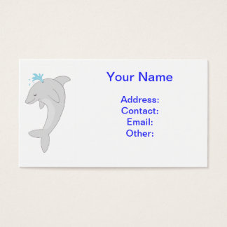 Cute Happy Dolphin Business Card