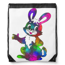 Cute Happy Easter Bunny Colorful Backpack
