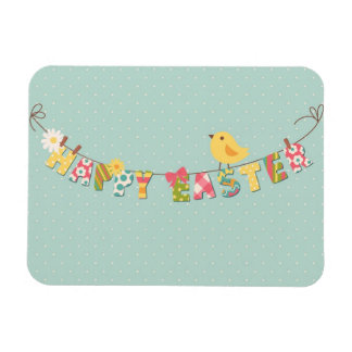 Cute Happy Easter Card Rectangular Photo Magnet