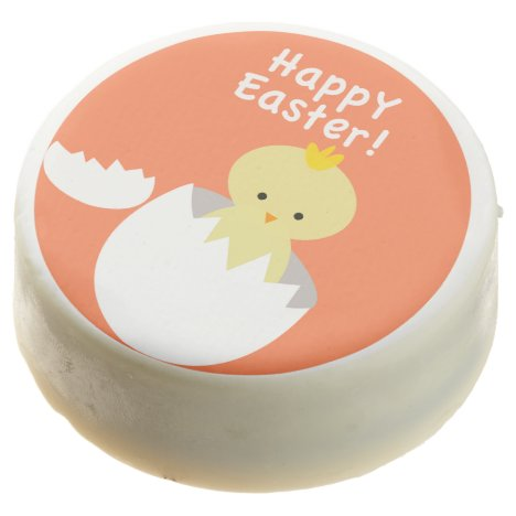 """Cute """"Happy Easter"""" Hatching Chick Chocolate Dipped Oreo"""
