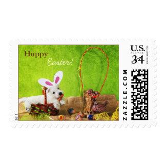 Cute Happy Easter Postmark Postage