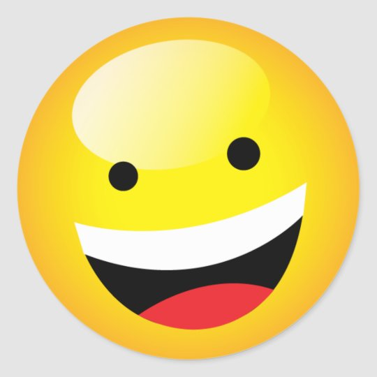 Cute Happy Emoji Laughing Face Party Time Symbol Classic