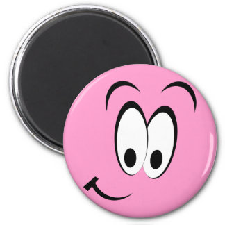 Cute Happy Face 2 Inch Round Magnet