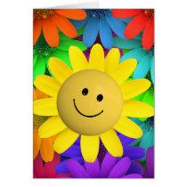 Cute Happy Face Flowers
