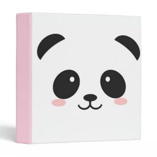Cute Happy Face Panda 3 Ring Binder