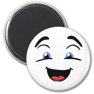 Cute Happy Face With Blue Eyes Magnet