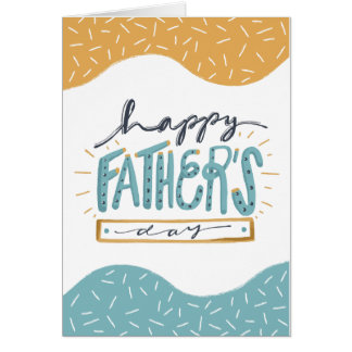 Cute Happy Father's Day doodle typography Card