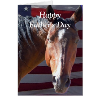 Cute Happy Father's Day Horse for a Special Dad Greeting Card