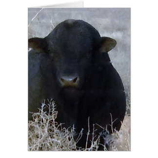 Cute Happy Father's Day Ranch Farm Bull Card