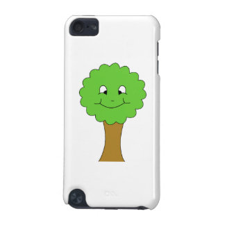 Cute Happy Green Tree. On white. iPod Touch 5G Cover