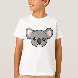 Cute Happy Grey Koala Face Drawing Kids Shirt