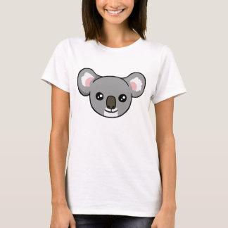 Cute Happy Grey Koala Face Drawing T-shirt