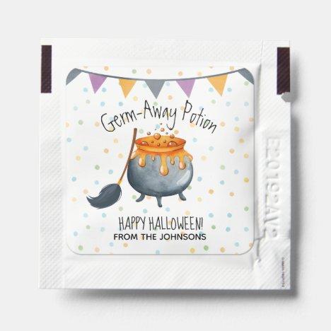 Cute Happy Halloween Cauldron Germ-Away Potion Hand Sanitizer Packet