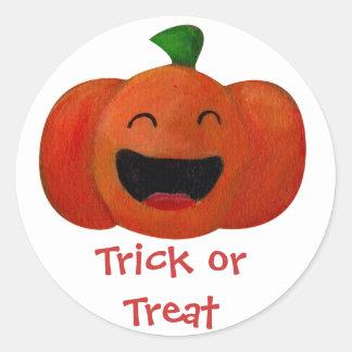 Cute Happy Halloween Pumpkin Sticker