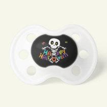 Cute Happy Halloween Skeleton Pacifier