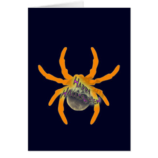 Cute Happy Halloween Spider Greeting Card