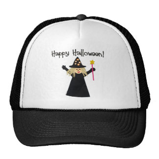 Cute Happy Halloween Witch Trucker Hat