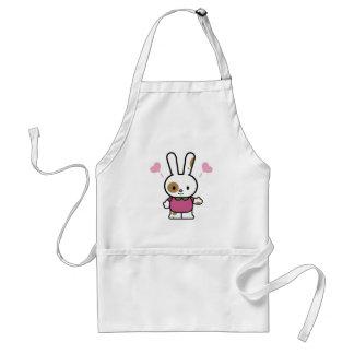 cute happy hearts bunny aprons