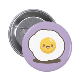 Cute Happy Kawaii Fried Egg Pin Badge Button