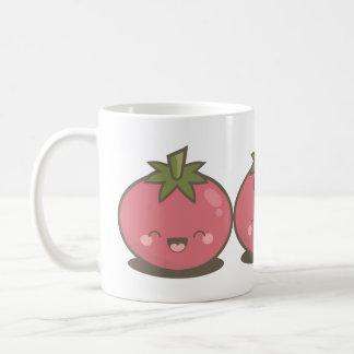 Cute Happy Kawaii Tomato Trio Coffee Mug