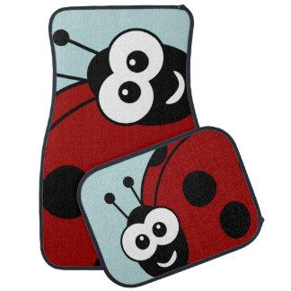 Cute Happy Ladybugs Car Floor Mat