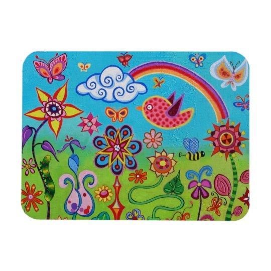 Cute Happy Landscape Art Premium Magnet